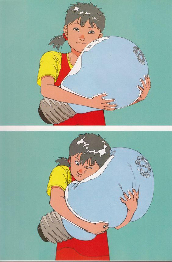 大友克洋による「女の子と電球」)
