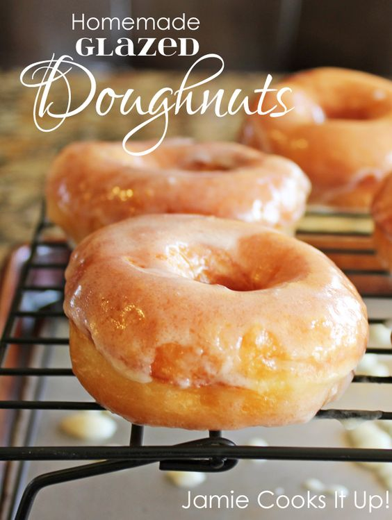 Homemade Glazed Doughnuts-Made these for Halloween and everyone ...