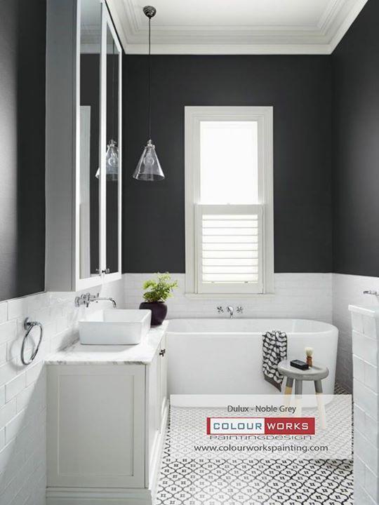 Colour Series Bathroom Dulux Noble Grey Homestarsawardwinner2018 Houzzawardwinner2018 Gtapainters Duluxpaint Torontop Bathroom Colors Dulux Grey Paint
