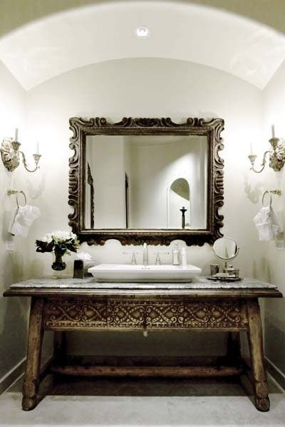 Gorgeous powder room bath powder shower for Gorgeous powder rooms