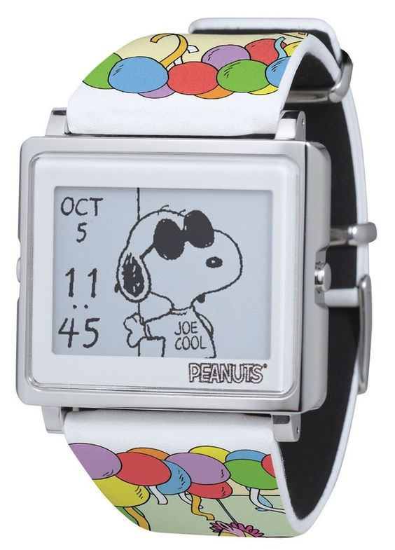 EPSON Smart Canvas Peanuts Snoopy Digital Watch 65 Anniversary Limited F/S Japan