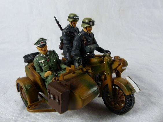 Lineol Duscha Wehrmacht Kradmelder Gespann mit Offizier - 7cm Serie | eBay