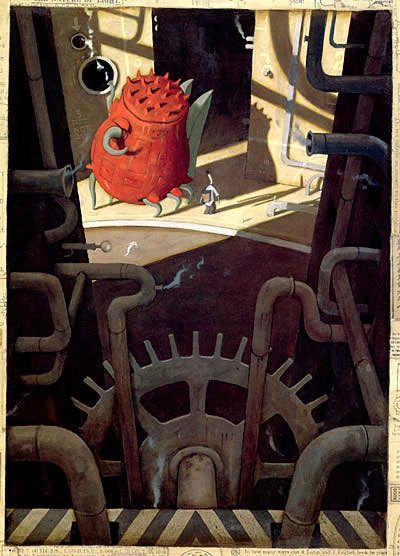 We love this book, 'The Lost Thing' - story and artwork by Shaun Tan