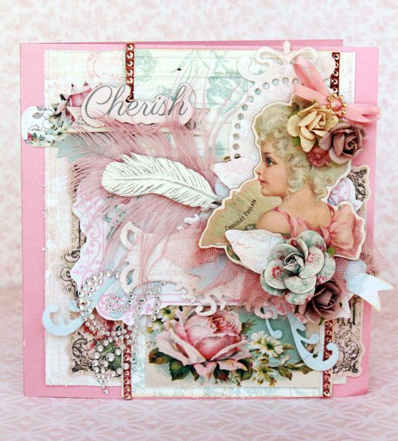 Card featuring Delight line by Prima