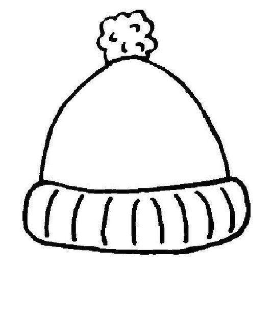 Gorros Para Colorear Gorro Invierno Dibujos De Invierno