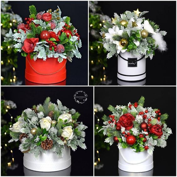 Christmas Flowers 2020 How to choose a stylish bouquet 2020 2021 + photos of beautiful