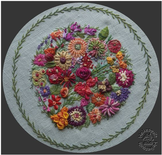 Free hand stitched embroidery designs