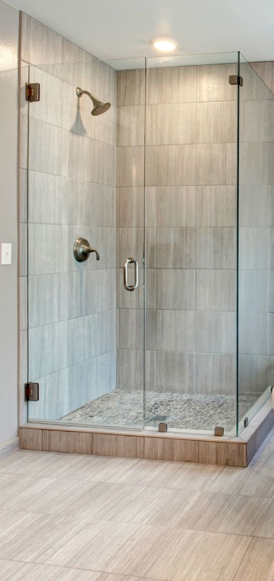 Walk in shower shower ideas and small bathrooms on pinterest - Walk in shower stalls ...