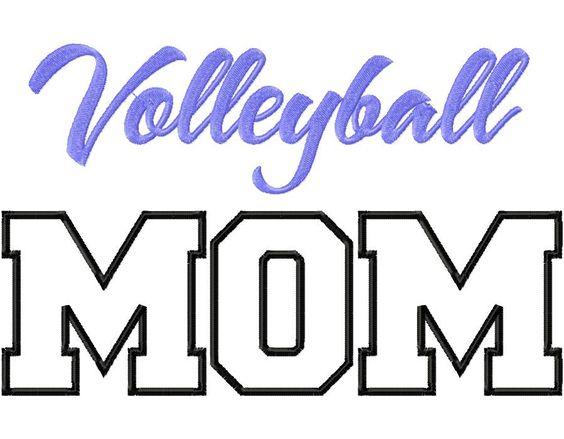 Volleyball mom applique machine embroidery design my