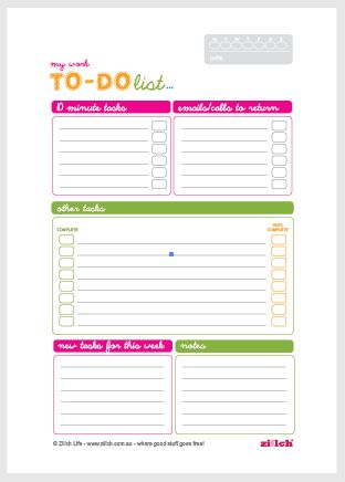 Free Printable Work To-Do List Great Ideas Pinterest - agenda download free