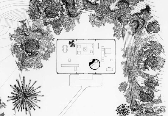 Philip johnson 39 s other career landscape architecture site plans the o 39 jays and house floor - Philip johnson glass house ...