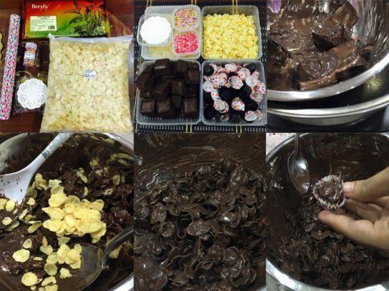 Untuk Elakkan Biskut Cornflakes Coklat Menjadi Lemau Selepas Dah Masukkan Dalam Baking Case Tadi Biarkan Biskut Sehingga Betul Betul Sej Coklat Makanan Resep