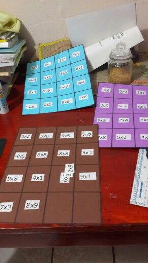 Juego de mesa para practicar las tablas de multiplicar - Tablas para mesas ...