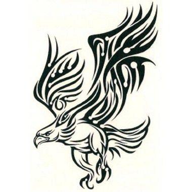 Tatouage aigle tribal noir et 380 380 pixels tatouage mimik pinterest - Tatouage noir et blanc ...