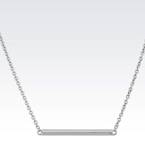 """Sterling Silver Bar Necklace (18"""""""")"""