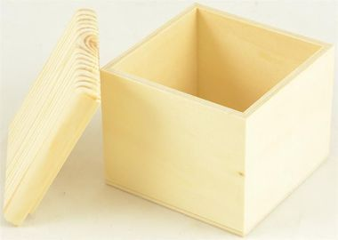 Paint, stain or wood burn this wood box to get the look you desire.  Easy to handle and safe for kids this box is perfect for an afternoon of arts and crafts