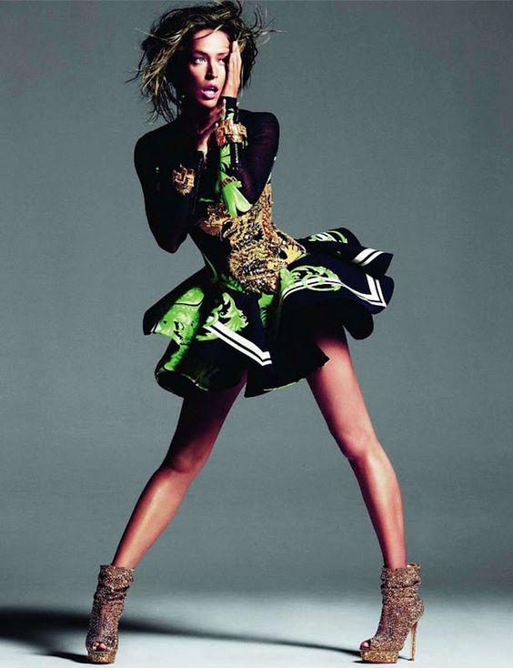 From  Vogue Paris November 2011,Raquel Zimmermann.Photography: Inez Van Lamsweerde and Vinoodh Matadin.