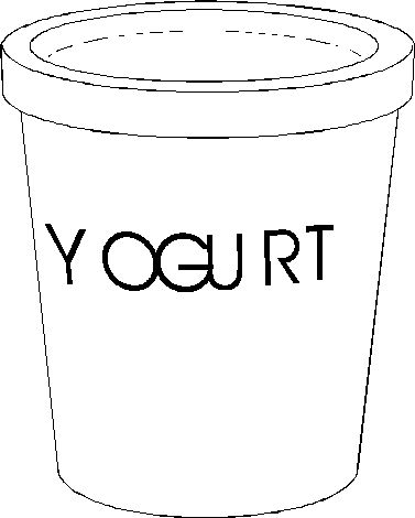 yogurt coloring pages | Dairy products coloring pages | Pinterest ...