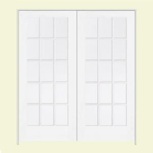 Jeld Wen Smooth 15 Lite Primed Wood Double Prehung