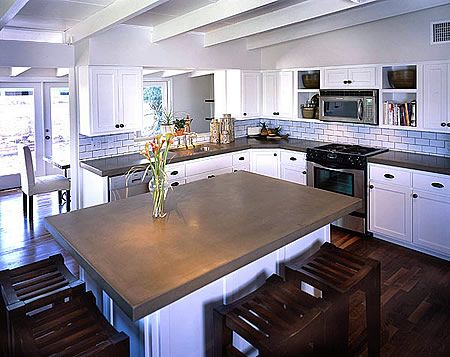 Pinterest the world s catalog of ideas for Concrete kitchen countertops reviews