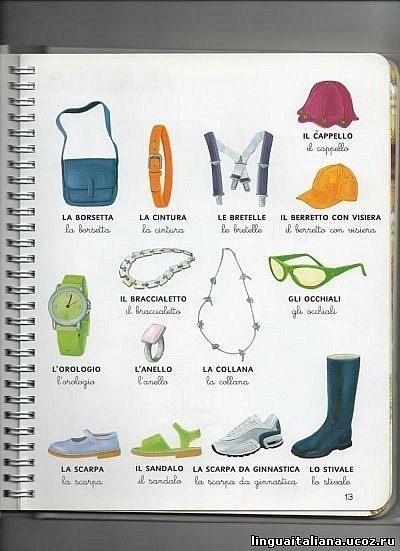 Clothing accessories. italiano