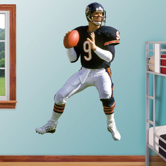 Jim McMahon REAL.BIG. Fathead Wall Graphic | Chicago Bears Wall Decal | Sports Décor | Football Bedroom/Man Cave/Nursery
