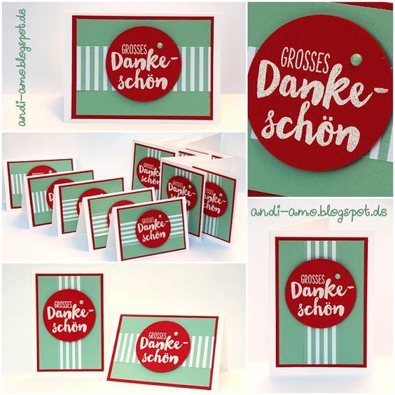 andi-amo Mini-Karten auf www.andi-amo.blogspot.de #Stampin Up #Gute-Laune-Grüße #Muttertag #Mini-Karten