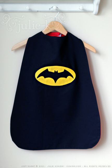 I will be making capes for all the boys to wear when they arrive at the party & masks. This one here is made beautifully.