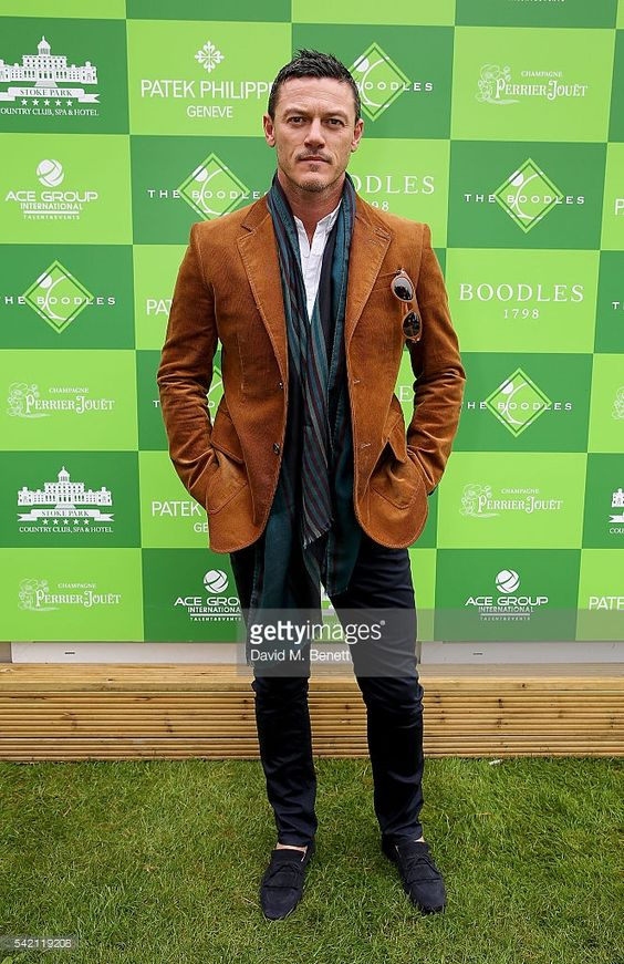 Luke Evans attends The Boodles Tennis at Stoke Park Hotel, on June 22, 2016 in London, England.