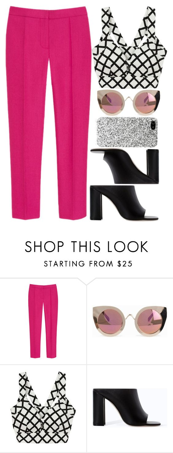 """KUSN"" by krizan ❤ liked on Polyvore featuring Mulberry, Quay, Zara and Yves Saint Laurent"