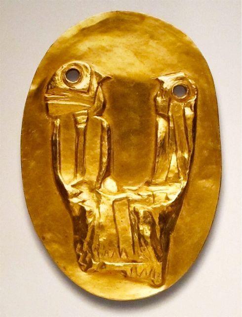 """Max Ernst  """"Les Deux""""  23k gold  1959-60"""