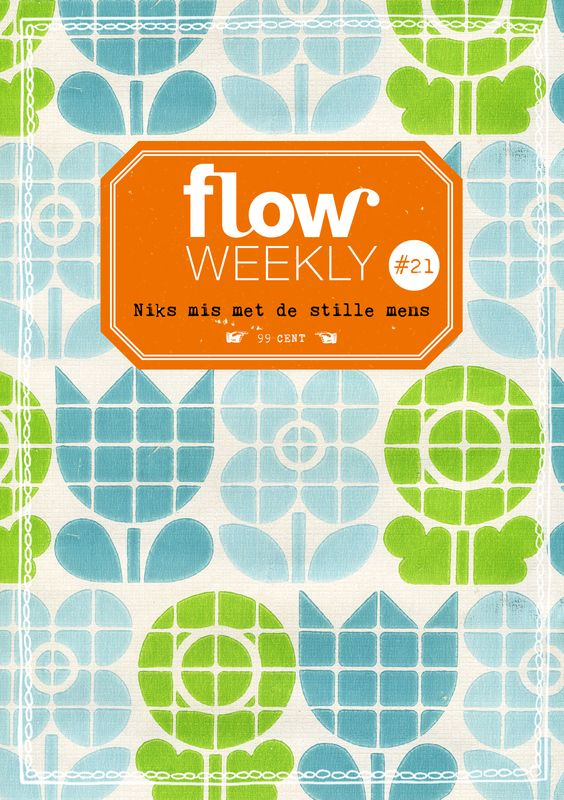 Flow Weekly #21 There's nothing wrong with the silent types. Flow Weekly includes a planner and to-do lists for you to fill in for the week ahead, as well as blank pages for thoughts, ideas, notes, dreams, wishes and plans. This week's edition also features: new insights into the silent character; a lesson in how to draw a plant; tame your inner critic; the first piece of illustrator Kate Pugsley's poster-in-a-series; nature tidbits on the fawn; and much more.