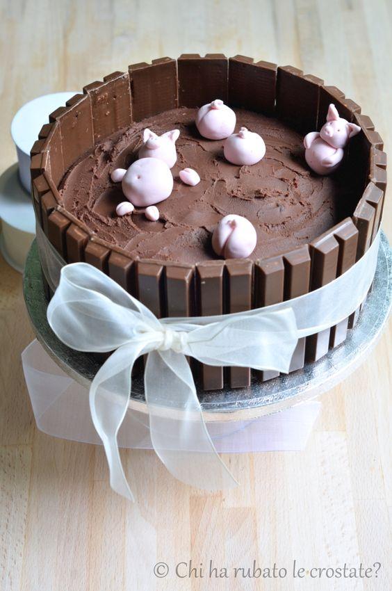 Chi ha rubato le crostate? : » KitKat Cake! Buon Compleanno maritino!