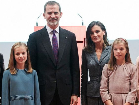 Spanish Royal Family attended the 40th anniversary of Spanish Constitution's approval