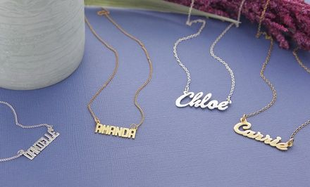 Personalized Name Necklaces from Monogram Online (Up to 67% Off). Multiple Styles Available. Free Shipping.