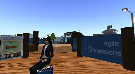 Sabia visiting @AgileBill4d on Expo Zone 4