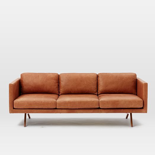 brooklyn leather sofa west elm geyserville pinterest With west elm sectional sofa leather