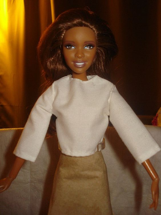 Barbie Doll Separates - Basic solid white long sleeved blouse - es165