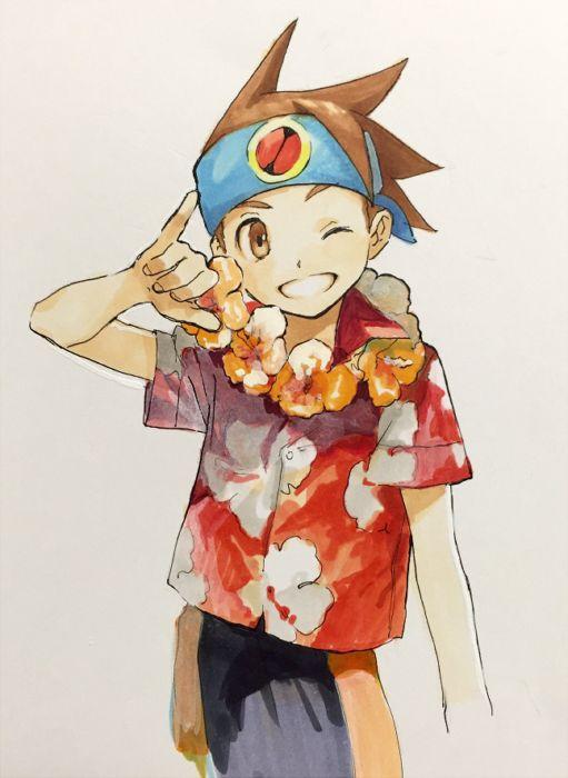 Summer Netto By Wannafantaman On Deviantart Mega Man Cartoon Anime