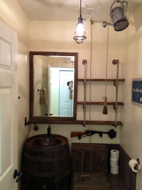 barrel sink pipe shelving bb gun plunger rustic toilet rustic toilet handle rustic toilet. Black Bedroom Furniture Sets. Home Design Ideas