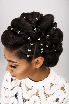 Bridal updos for natural hair  
