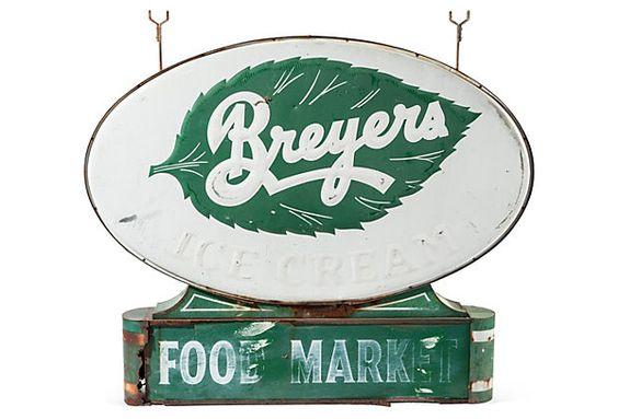 Double-Sided Breyers Sign on OneKingsLane.com