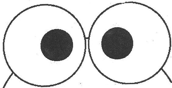 Frog eyes pattern for preschoolers