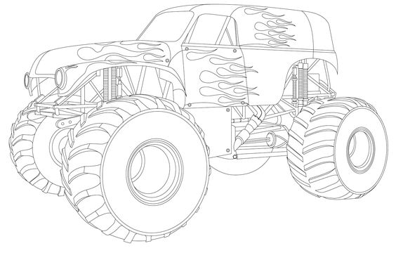 grave digger coloring page 28 images truck coloring pages