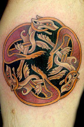Celtic War Dog Tattoo