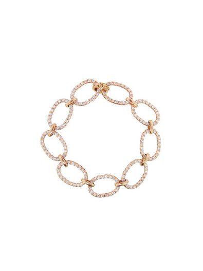 Diamond Link Bracelet - Rose Gold