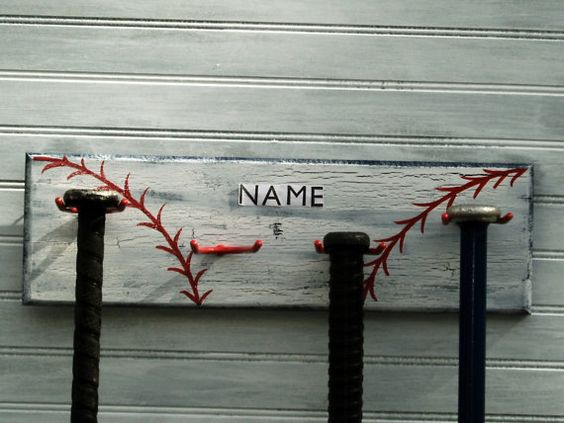 Baseball Bat Softball Sport Hanger Personalized by sportyracks, $27.00