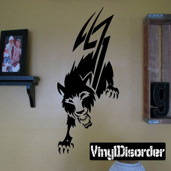 Wolves Wall Decal - Vinyl Decal - Car Decal - DC 085