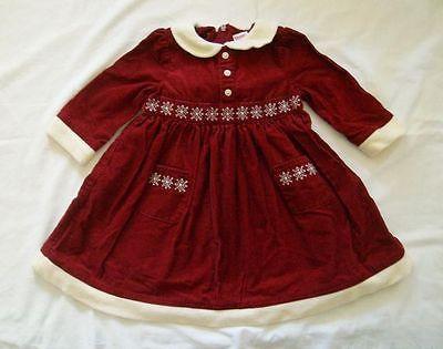 Gymboree Family Portrait Burgundy Corduroy Dress, Size 12-18months