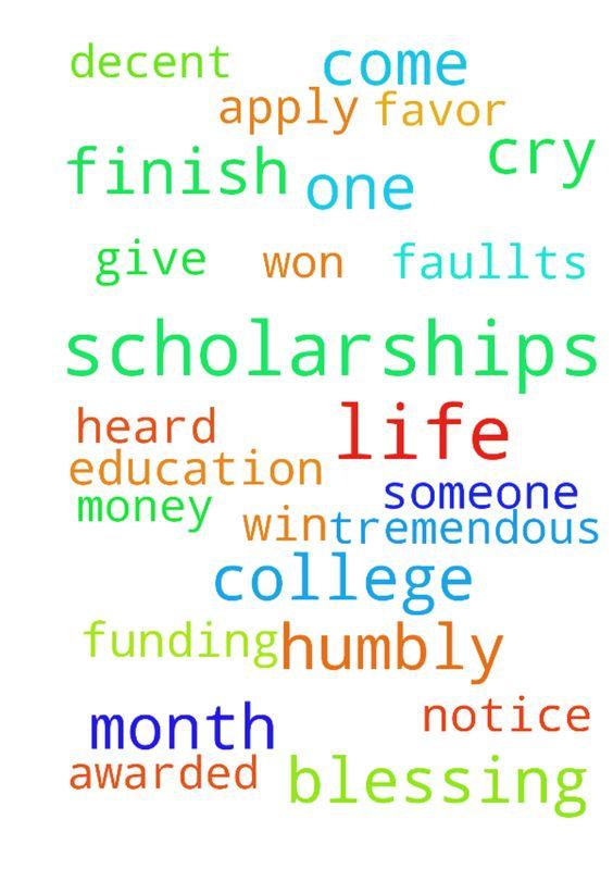 I need help with scholarships.?